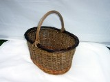 Large willow shopping basket