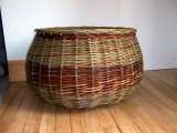 Large round Willow Log Basket